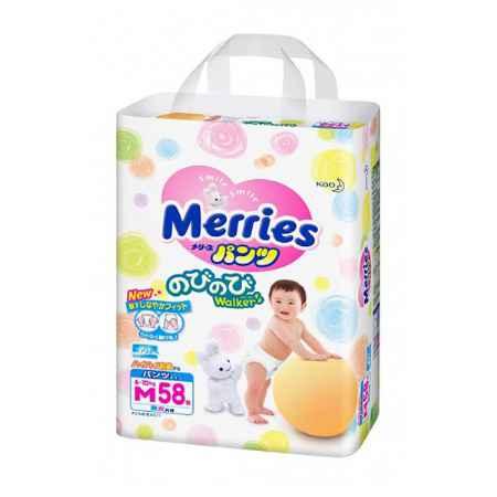 Купить Merries Трусики Merries 6-10 кг (58 шт) Размер M