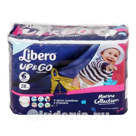 Купить Libero Подгузники-трусики Up&Go Extra Large 6 (13-20 кг)