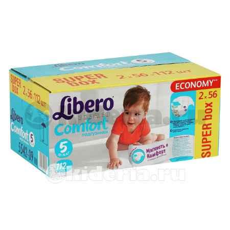 Купить Libero Подгузники Comfort Maxi Plus 5 (10-16 кг), 112 шт.