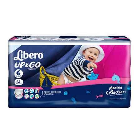 Купить Libero Трусики Libero Up & Go Midi 13-20 кг (28 шт) Размер 6