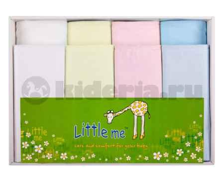 Купить Little me Комплект из 8-ми пеленок (4 тонкий трикотаж и 4 фланель)*