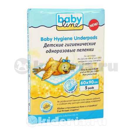 Купить Babyline Пеленки пятислойные с гелевым абсорбентом, 60x90 см