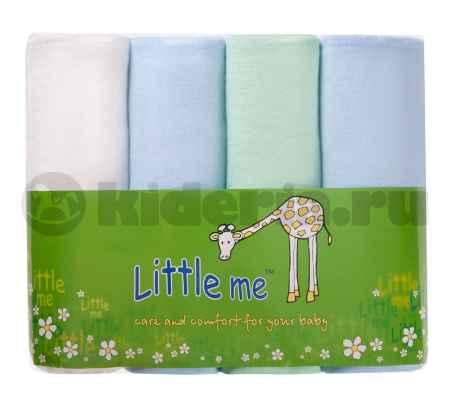Купить Little me Пеленка фланель комплект 4 шт, 75х120 см*, цвета в ассорт.