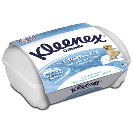 Купить Kleenex Влажная туалетная бумага Kleenex Cotton Fresh (влажная) контейнер 42 шт