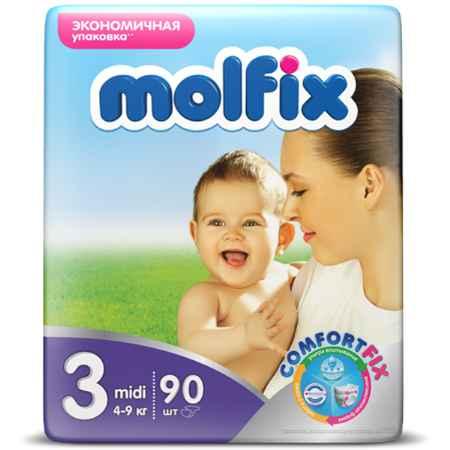 Купить Molfix Подгузники Molfix Midi 4-9 кг. (90 шт.) Размер 3