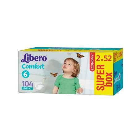 Купить Libero Подгузники Libero Comfort Extra large 12-22 кг (104 шт) Размер 6