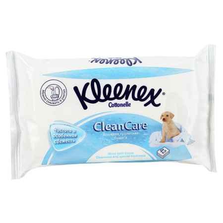 Купить Kleenex Влажная туалетная бумага Kleenex Clean Care (влажная) запасной блок 42 шт