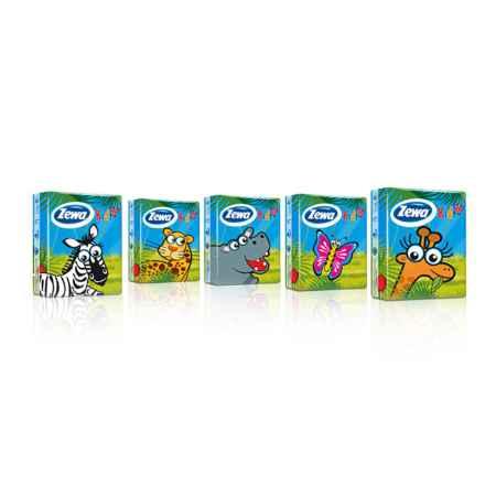 Купить Zewa Зева Платочки ZeWa Kids 3-х слойные (10 платочков) 1 шт
