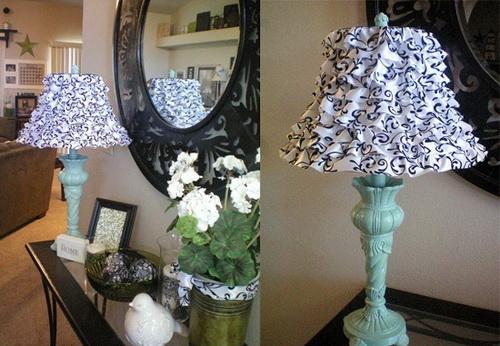 Как украсить настольную лампу