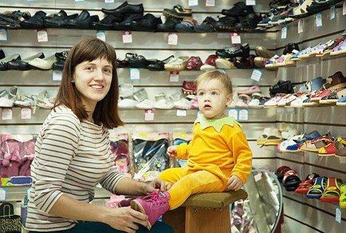покупаем обувь ребенку
