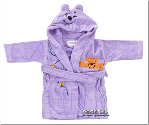 Используем полотенце для пошива детского халата